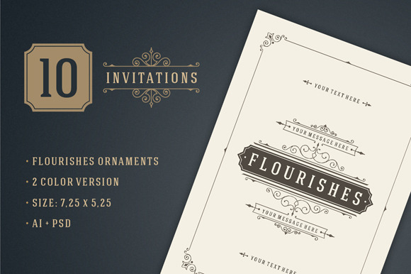 10 Vintage Invitations Volume 11