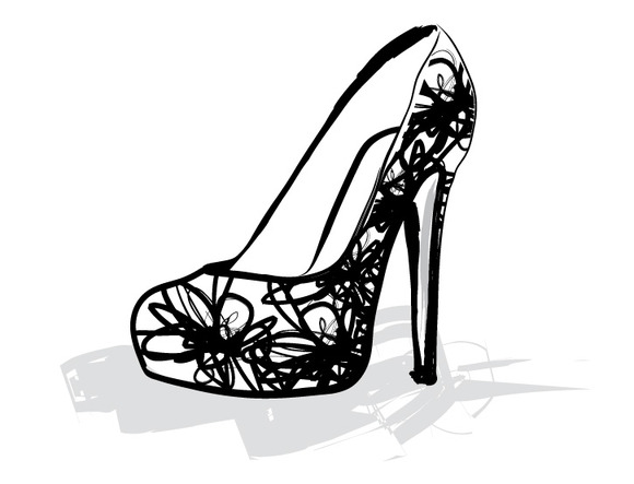 Heels Shoes Vector