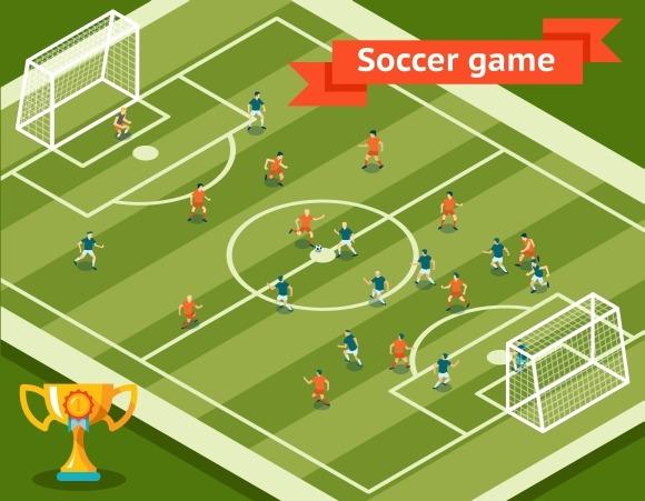 Soccer Game Football Field