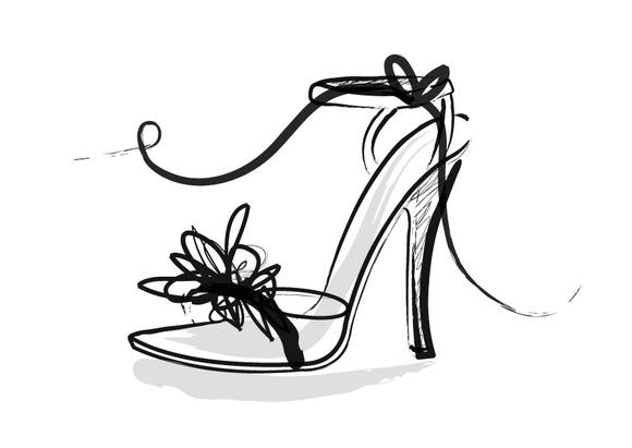 Shoes Heels Sandals Vector