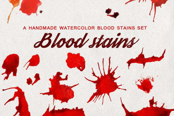 Watercolor Blood Splash Spots