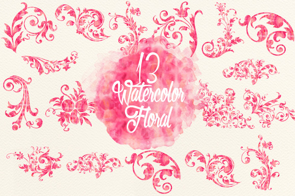 Watercolor Pink Florals