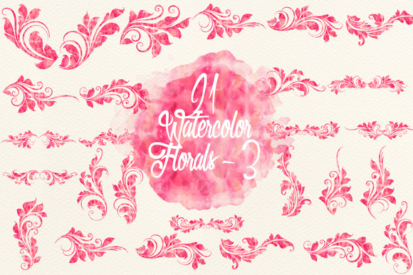Watercolor Pink Florals 3