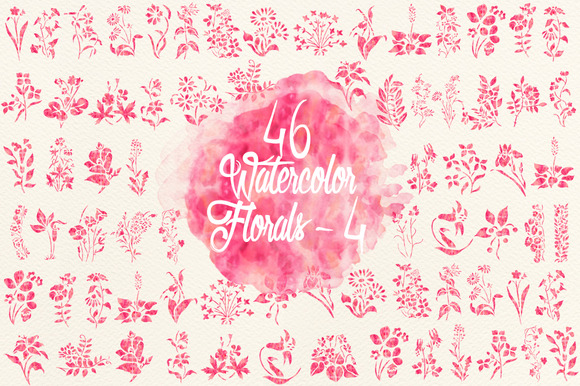 Watercolor Pink Florals 4