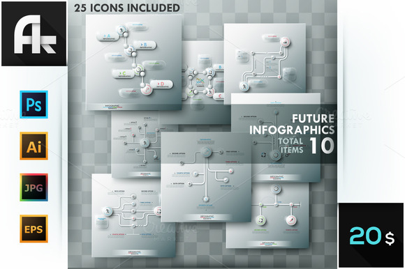 Future Infographic Templates Set