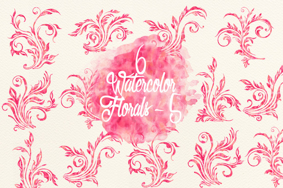 Watercolor Pink Florals 5