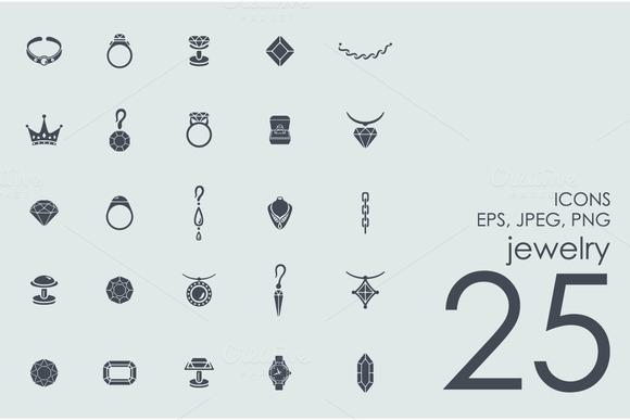 25 Jewelry Icons