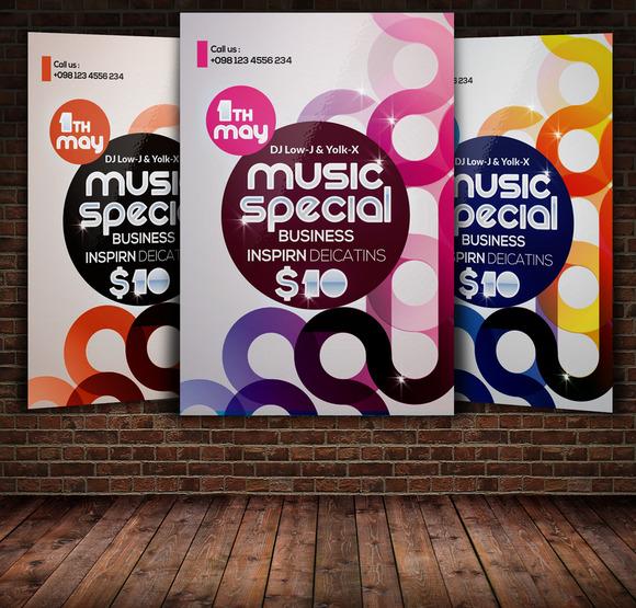 Music Futuristic Flyer Template