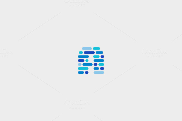 Dynamic Code Blocks Letter A Logo