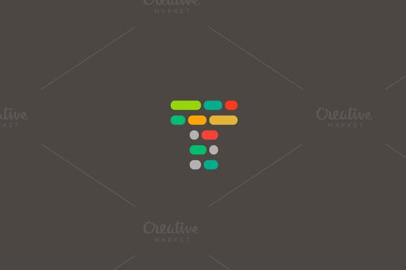Dynamic Code Blocks Letter T Logo