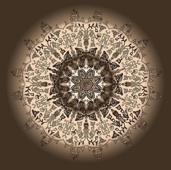 Abstract Ornamental Mandala