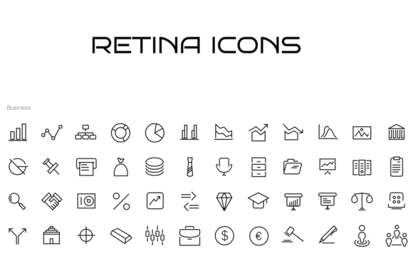 130 IOS Icons For Business