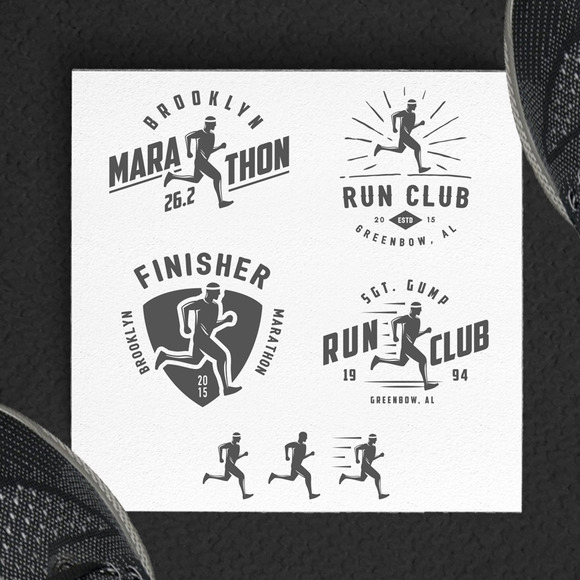 Running Marathon Design Elements