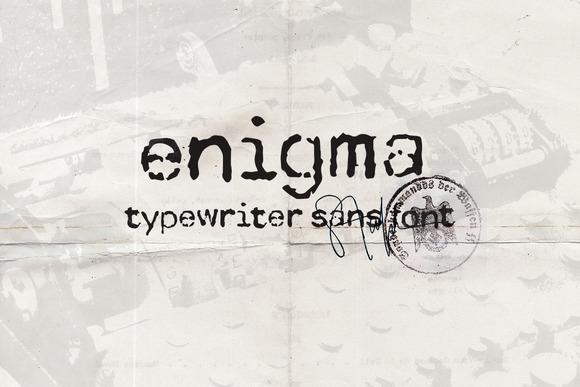 Enigma Typewriter Sans Font