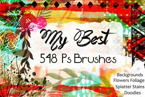 548 Photoshop Brushes Bundle CU