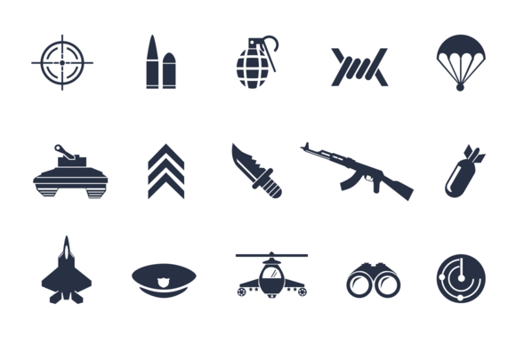 12 Military Icons