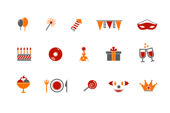 12 Party And Celebration Icons