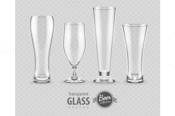 Glasses For Beer DrinkinG In Pub Empty Set
