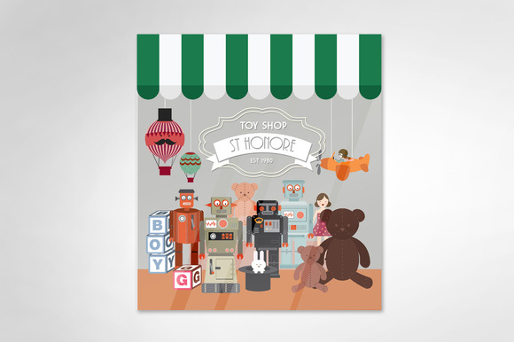 Toy Store Vector Illustration