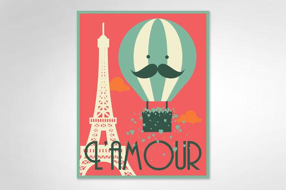 Hot Air Balloon Eiffel Tower Vector