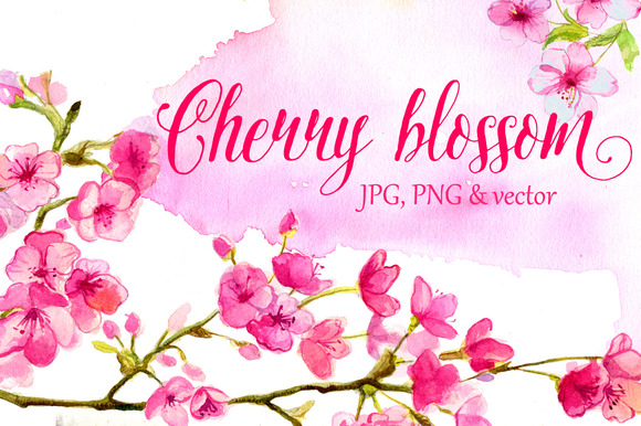 Cherry Blossom Watercolor Art