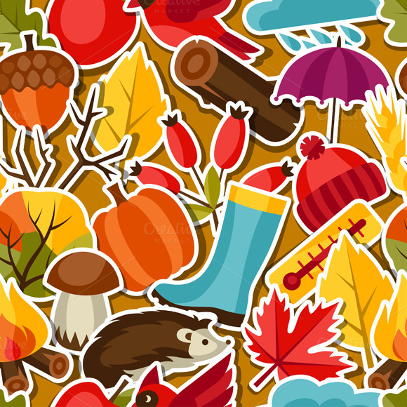 Patterns With Autumn Stickers