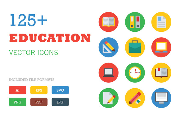 125 Education Vector Icons