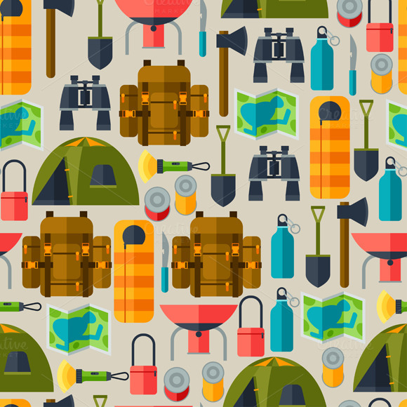 Tourist Seamless Patterns