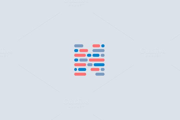 Dynamic Code Blocks Letter N Logo