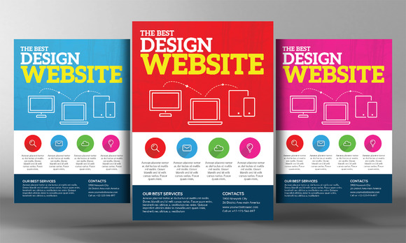 Premium Website Design Flyer