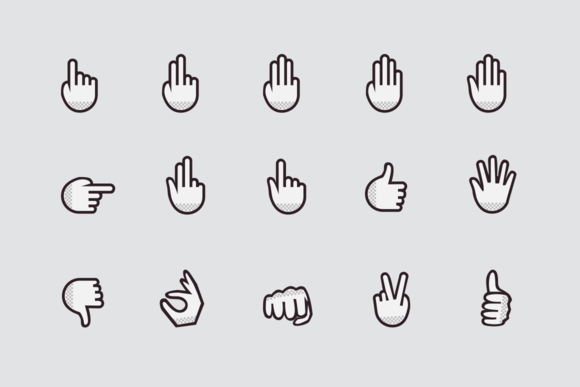 15 Hand And Finger Icons