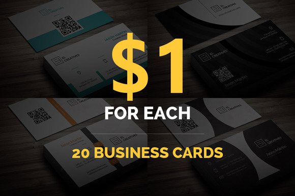 Bundle 20 Business Cards
