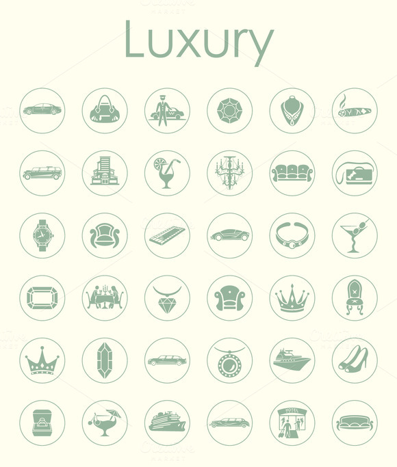 36 LUXURY Simple Icons