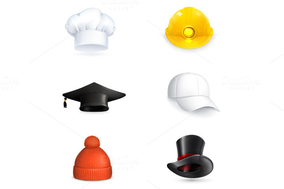 Hats Vetor Icons