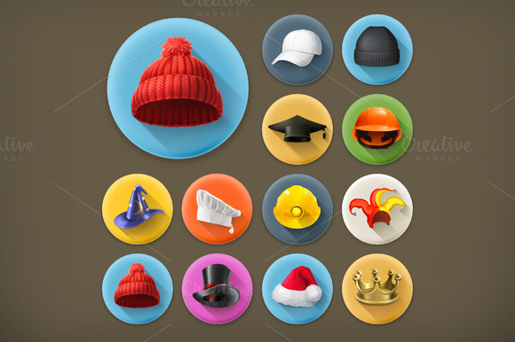 Hats Vector Icons