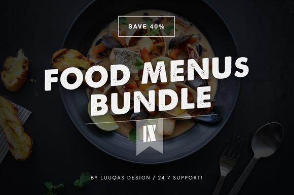 Food Menus Bundle 9