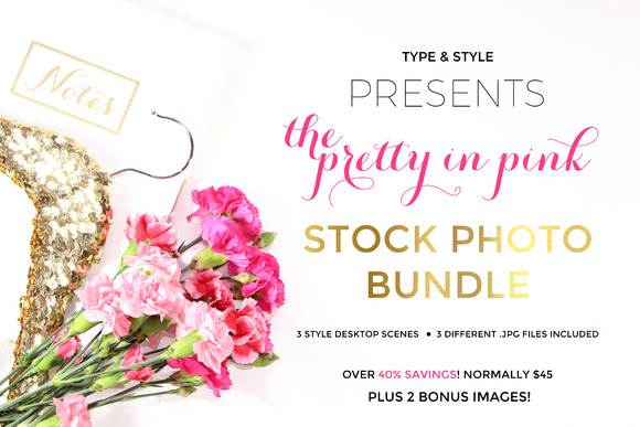 Stock Photo Bundle Pretty In Pink