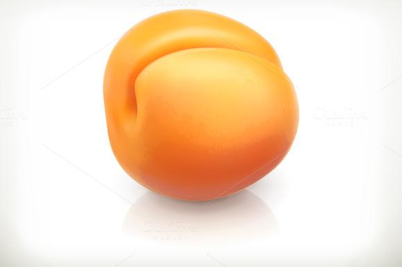 Apricot Fruit Icon