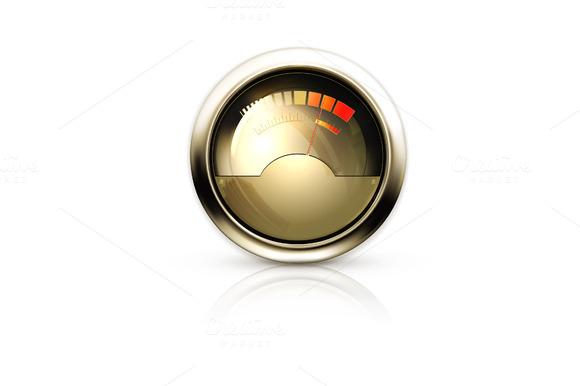 Audio Gauge Vector Icon