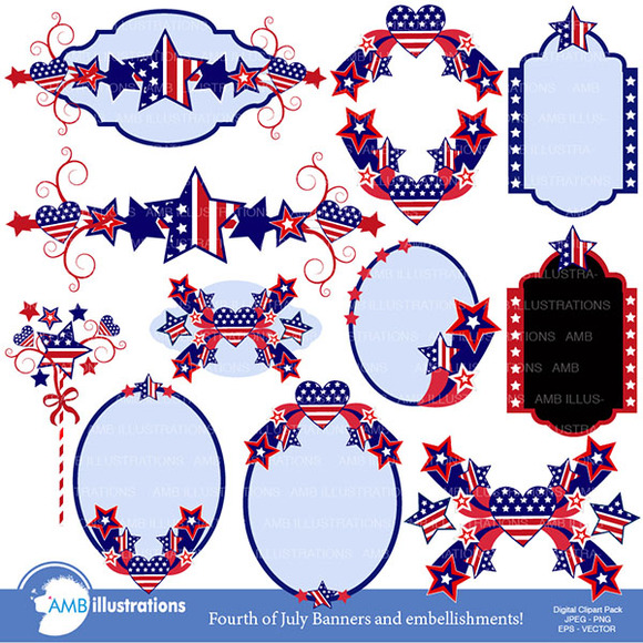Stars And Stripes Frames 922