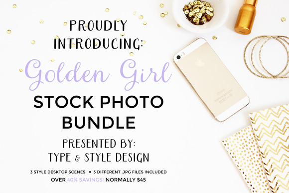 Stock Photo Bundle Golden Girl