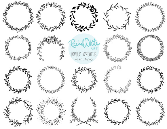 Lovely Wreaths Vector