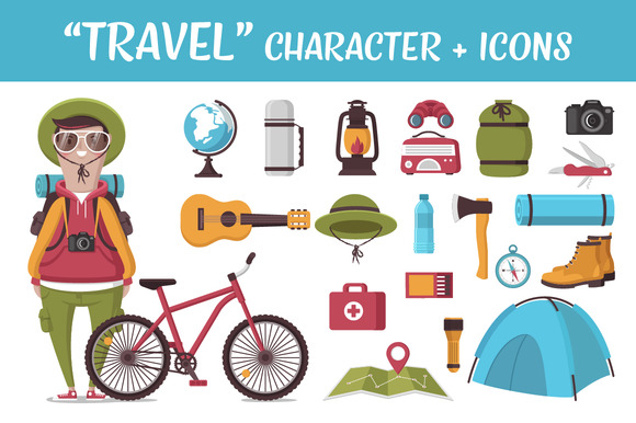 TRAVEL Character And Icons