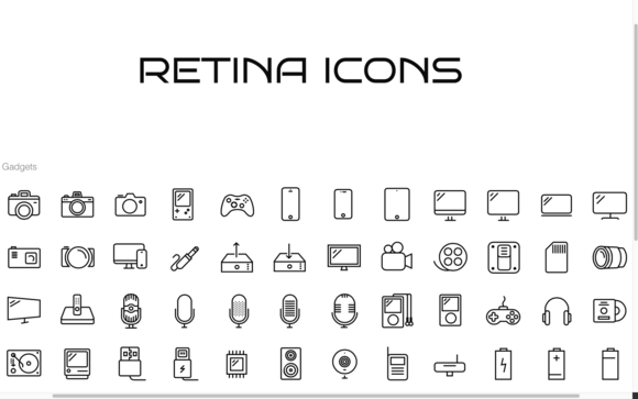 96 Gadget Icons