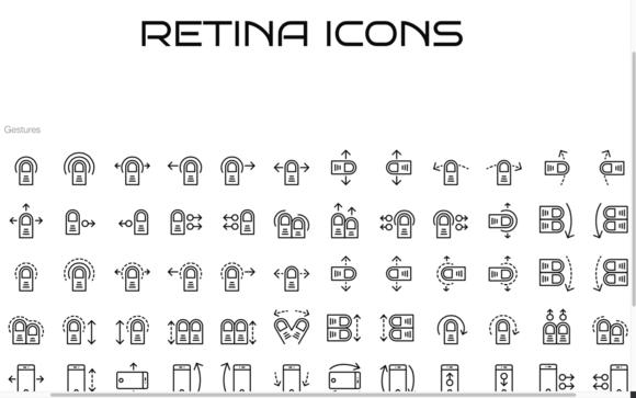 72 Swipe Gesture Icons