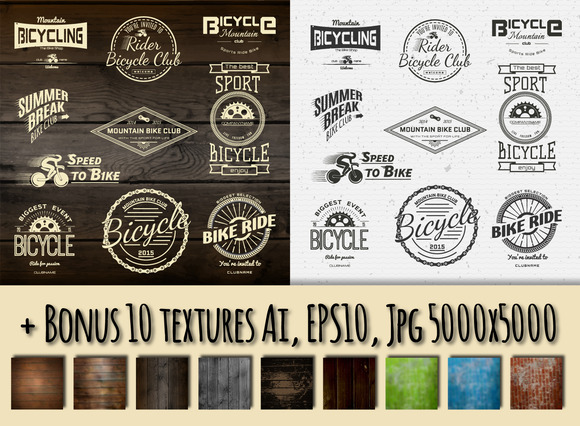 Bicycle Vector Set Badges And Logos