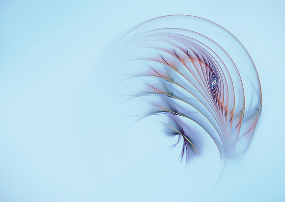 Abstract Feather Blue Background