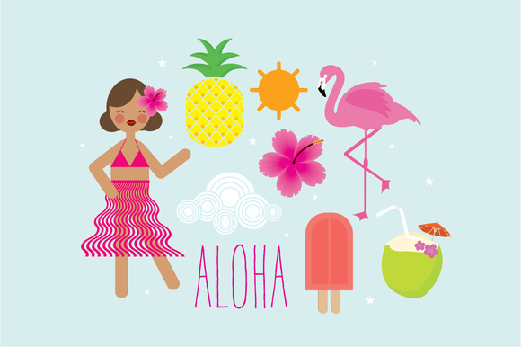 Tropical Party Elements Vector