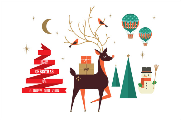 Christmas Elements Greetings Vector
