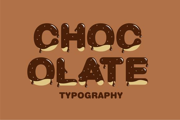Chocolate Typography Vector